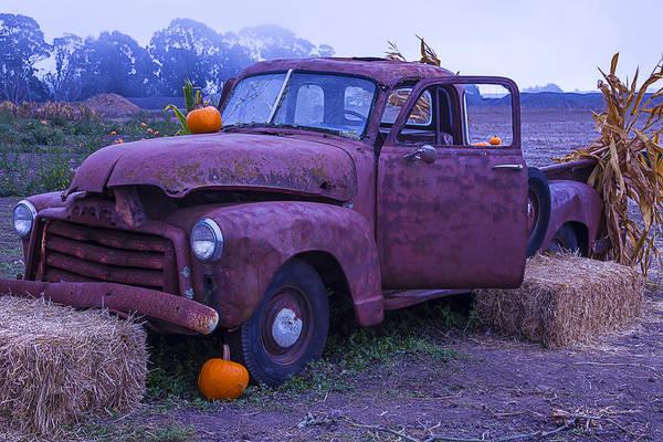 Junker Wall Art - Photograph - Rusty Truck With Pumpkins by Garry Gay
