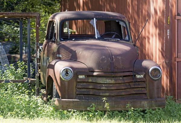 Photograph - Rusty Vintage Pickup Truck by Susan Schroeder