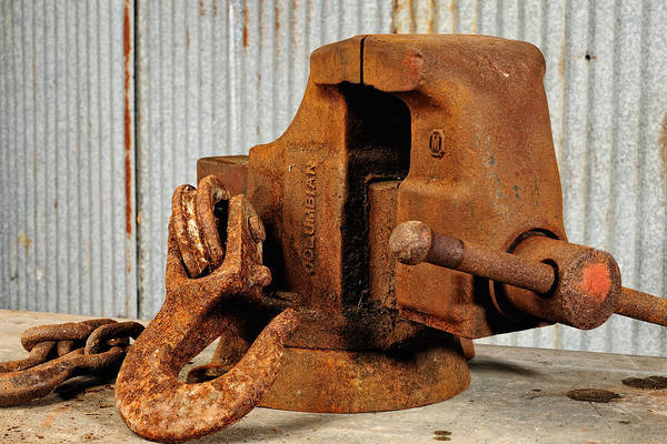 Photograph - Rusty Vise by John Kiss