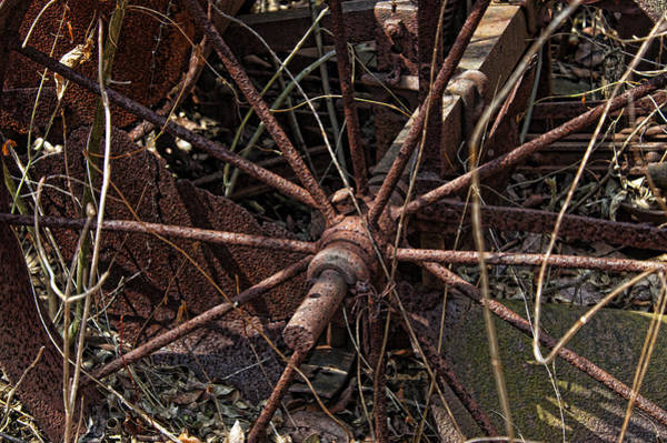 Photograph - Rusty Wheel by David Armstrong