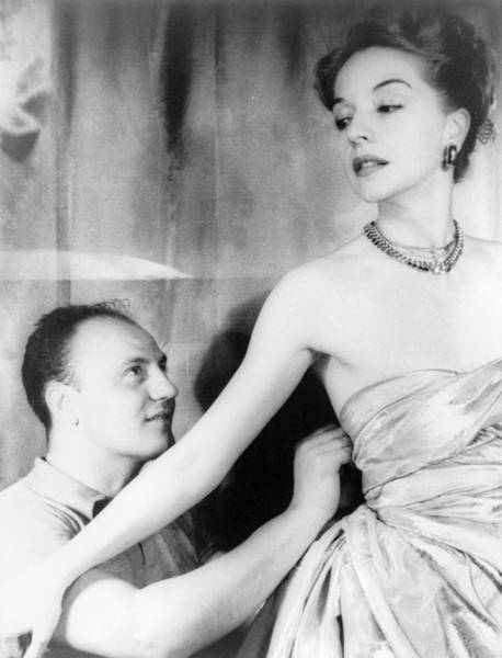 Dress Fitting Photograph - Ruth Ford (1911-2009) by Granger