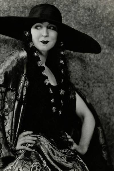 January 1st Photograph - Ruth St. Denis In Costume by Nickolas Muray