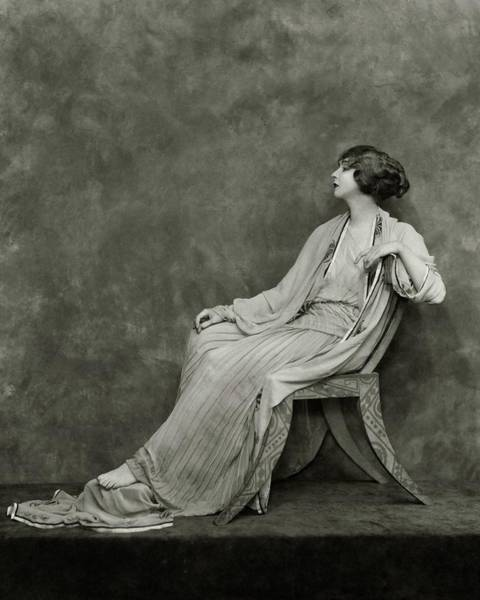Photograph - Ruth St. Denis On A Chair by Nickolas Muray