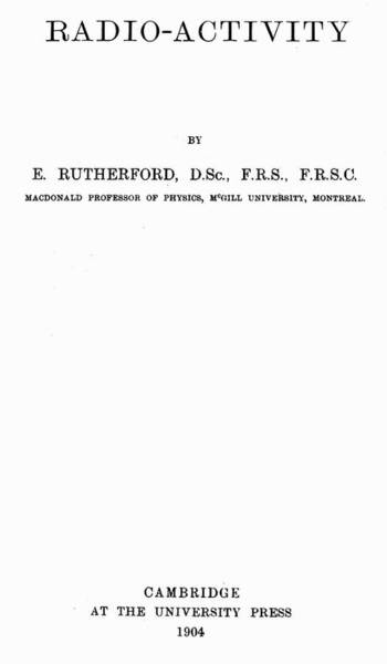 Painting - Rutherford Title Page by Granger