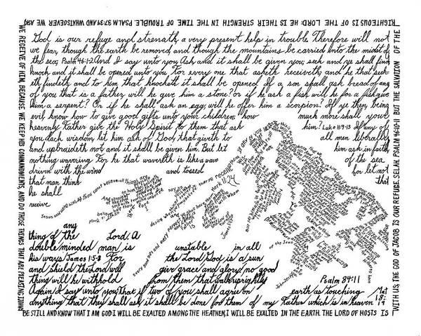 Land Mark Drawing - Ruth's Mountain by Bethany Martin