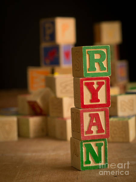 Baby Name Wall Art - Photograph - Ryan - Alphabet Blocks by Edward Fielding