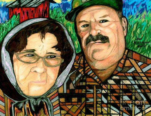 Drawing - Ryan's Parents by Jon Kittleson