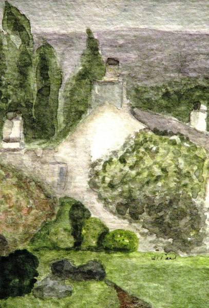 Lake District Painting - Rydal Mount House Home Of William Wordsworth by Angela Davies