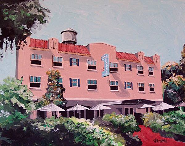 Wall Art - Painting - Ryde Hotel by Paul Guyer