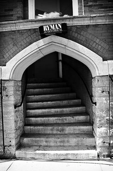 Ryman Auditorium Photograph - Ryman Auditorium Back Door by Danny Hooks