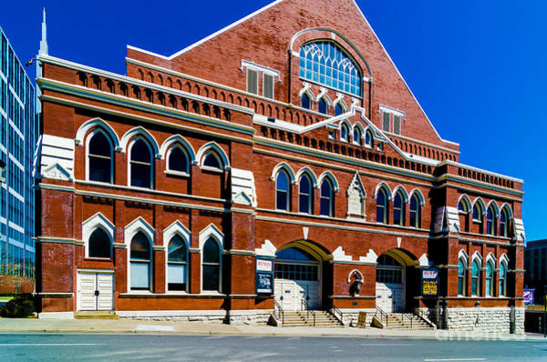 Ryman Auditorium Photograph - Ryman Auditorium  by Danny Hooks