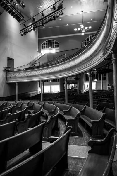 Balcony Photograph - Ryman Auditorium Pews by Glenn DiPaola
