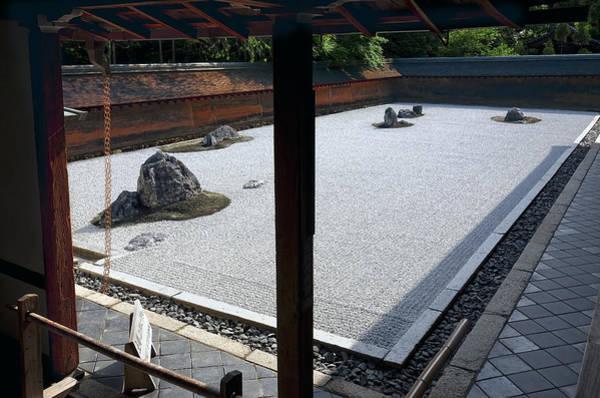 Wall Art - Photograph - Ryoanji Kare Sansui Garden - Kyoto Japan - 15th Century by Daniel Hagerman
