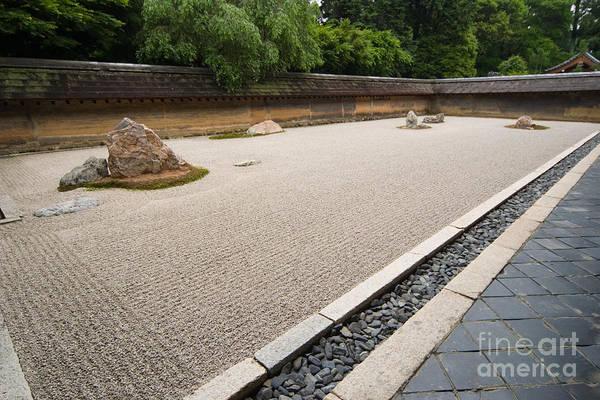 Kansai Region Wall Art - Photograph - Ryoanji Zen Rock Garden by Ei Katsumata