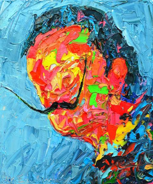 Wall Art - Painting - S D 2530 - Dali Abstract Expressionist Portrait  by Ana Maria Edulescu