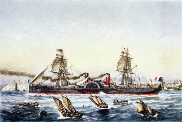 United States Postal Service Photograph - S. S. Washington by Cci Archives/science Photo Library