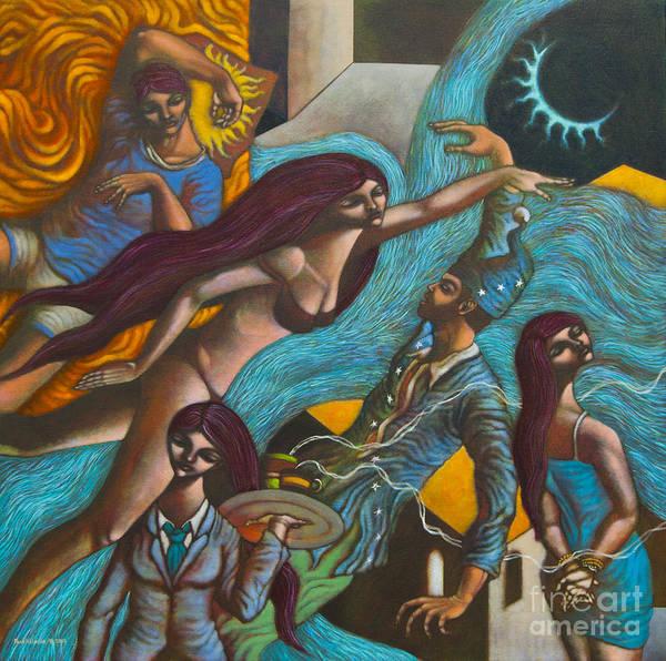 Wall Art - Painting - Sa Lalim Ng Gabi In The Depths Of The Night by Paul Hilario