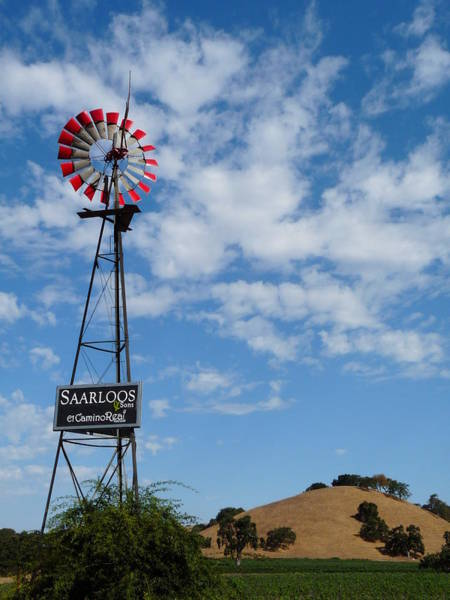 Photograph - Saarloos Winery Windmill by Jeff Lowe
