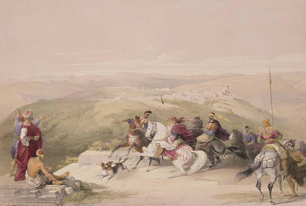 Territory Painting - Sabaste  Ancient Samaria by David Roberts
