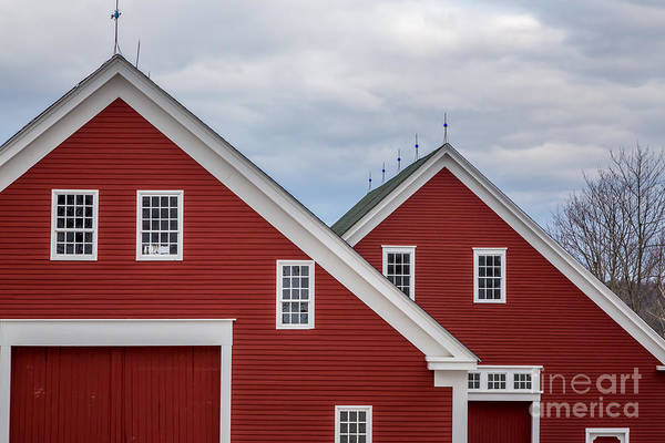 Photograph - Sabbathday Lake Red Barns by Susan Cole Kelly