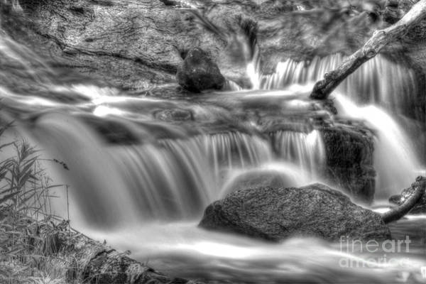National Lakeshore Wall Art - Photograph - Sable Falls In Black And White by Twenty Two North Photography