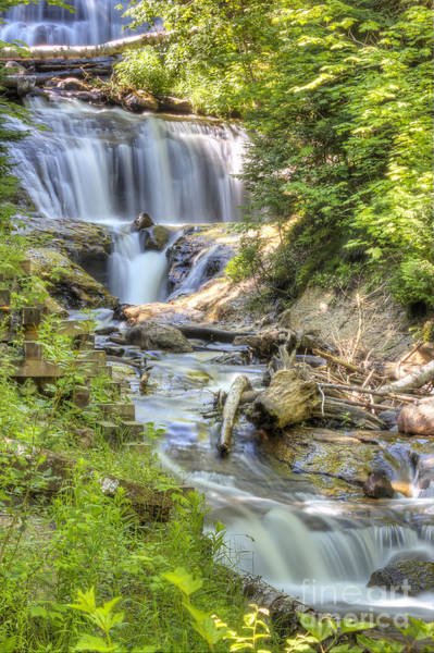 National Lakeshore Wall Art - Photograph - Sable Falls In Summer by Twenty Two North Photography