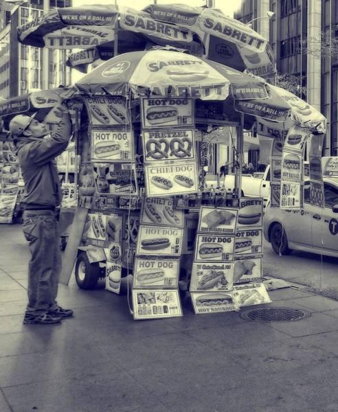 Photograph - Sabrett Vendor New York City by Dan Sproul