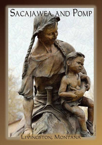 Statue Mixed Media - Sacajawea And Pomp by Kae Cheatham