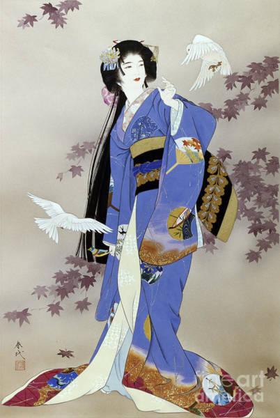 Kimono Digital Art - Sachi by MGL Meiklejohn Graphics Licensing