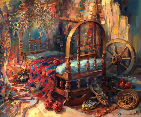 Sacrament Wall Art - Painting - Sacrament Of A Cradle by Meruzhan Khachatryan