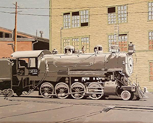 Sacramento Locomotive Works Art Print by Paul Guyer