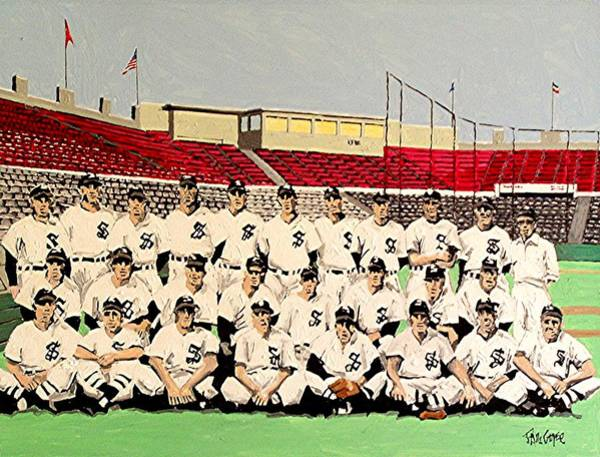 Sacramento Solons Wall Art - Painting - Sacramento Solons 1949 by Paul Guyer