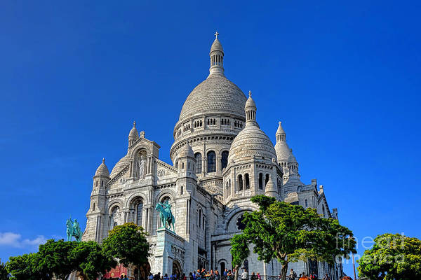 Sacred Heart Photograph - Sacre Coeur Basilica by Olivier Le Queinec