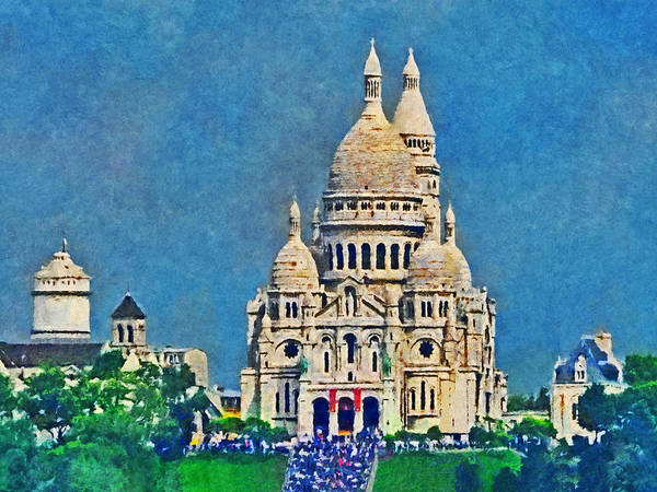 Digital Art - Sacre Coeur In Paris by Digital Photographic Arts