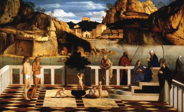 Galleria Painting - Sacred Allegory by Giovanni Bellini