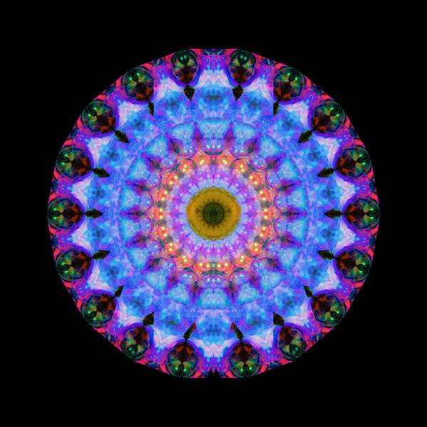 Energy Painting - Sacred Crown - Mandala Art By Sharon Cummings by Sharon Cummings