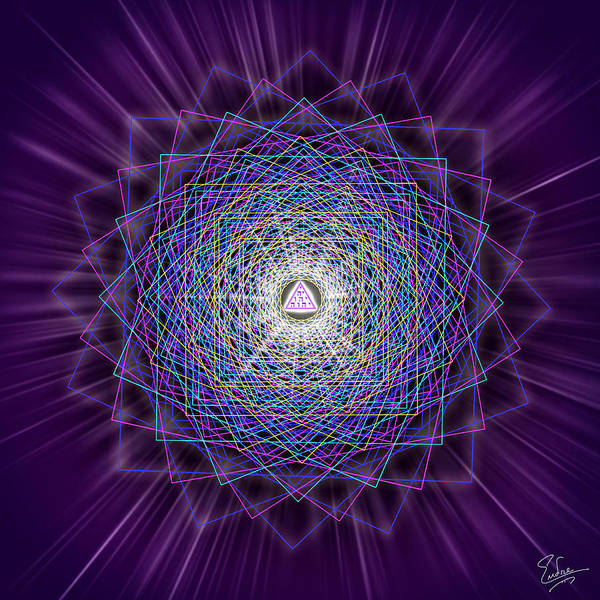 Digital Art - Sacred Geometry 145 by Endre Balogh