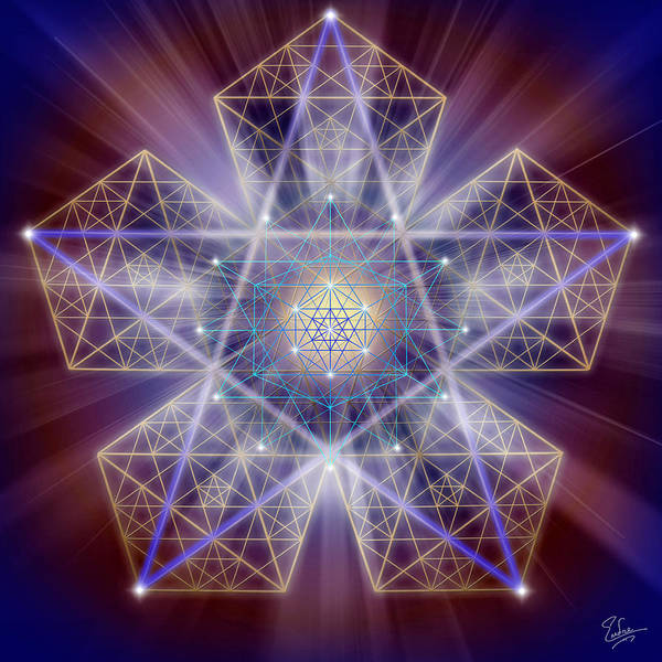 Digital Art - Sacred Geometry 163 by Endre Balogh