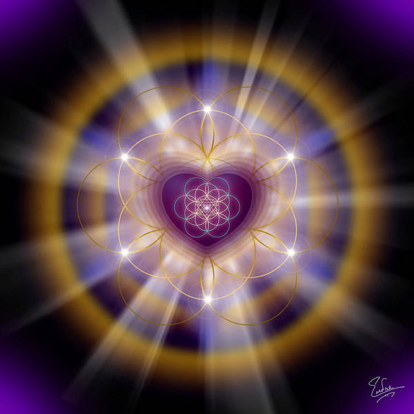 Digital Art - Sacred Geometry 204 by Endre Balogh