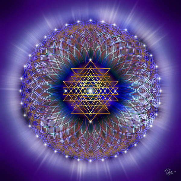 Digital Art - Sacred Geometry 243 by Endre Balogh