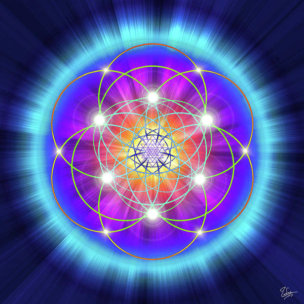 Digital Art - Sacred Geometry 25 by Endre Balogh