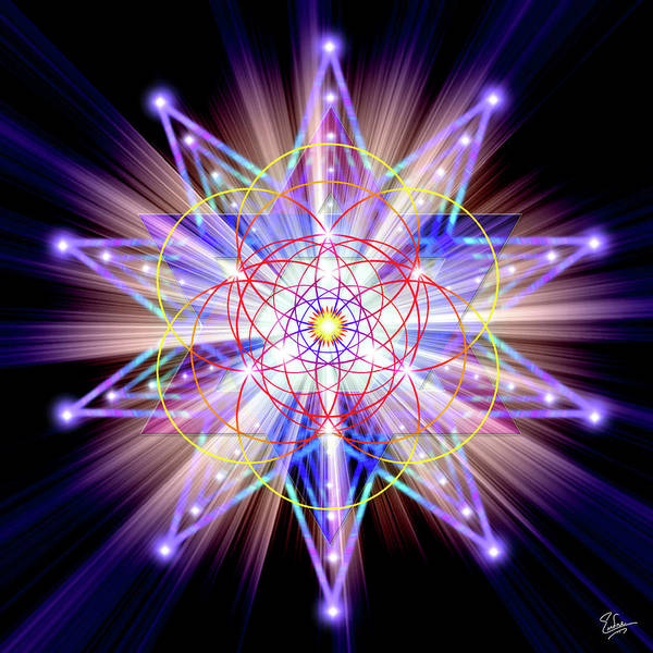 Digital Art - Sacred Geometry 27 by Endre Balogh