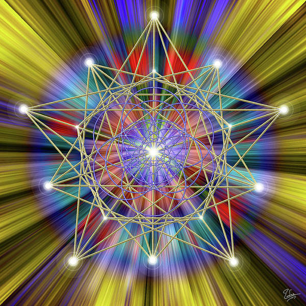 Digital Art - Sacred Geometry 33 by Endre Balogh