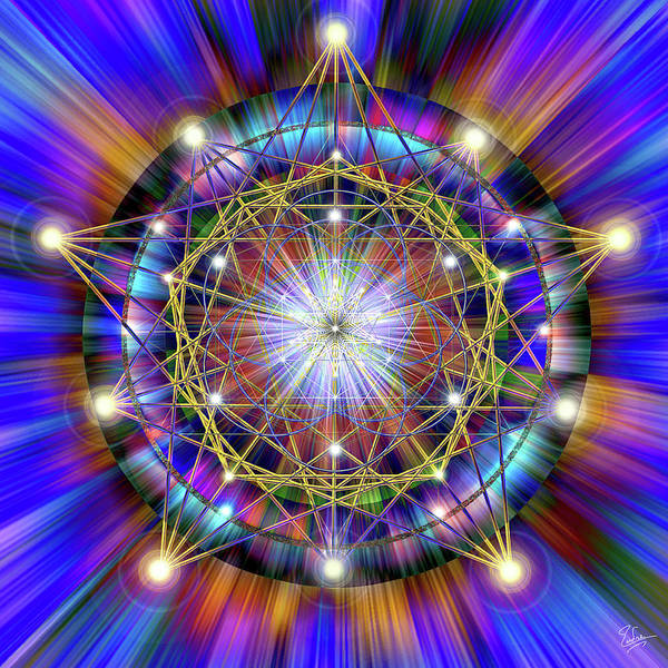 Digital Art - Sacred Geometry 34 by Endre Balogh