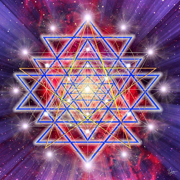 Digital Art - Sacred Geometry 35 by Endre Balogh
