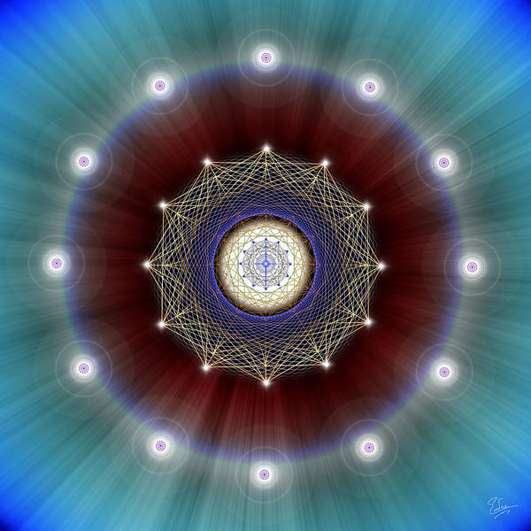 Digital Art - Sacred Geometry 361 by Endre Balogh