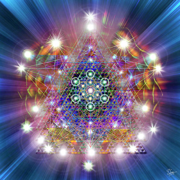 Digital Art - Sacred Geometry 38 by Endre Balogh