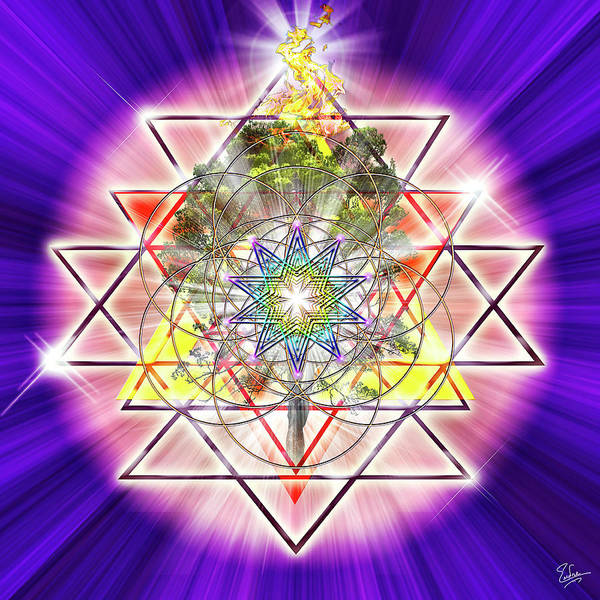 Digital Art - Sacred Geometry 39 by Endre Balogh