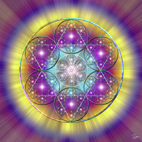 Digital Art - Sacred Geometry 40 by Endre Balogh