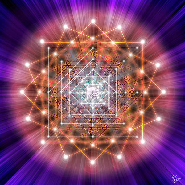 Digital Art - Sacred Geometry 43 by Endre Balogh